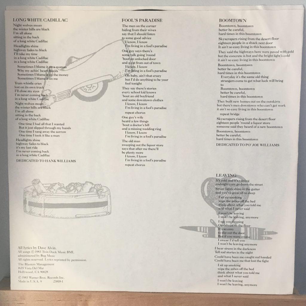 Blasters Non-Fiction lyric sleeve 2