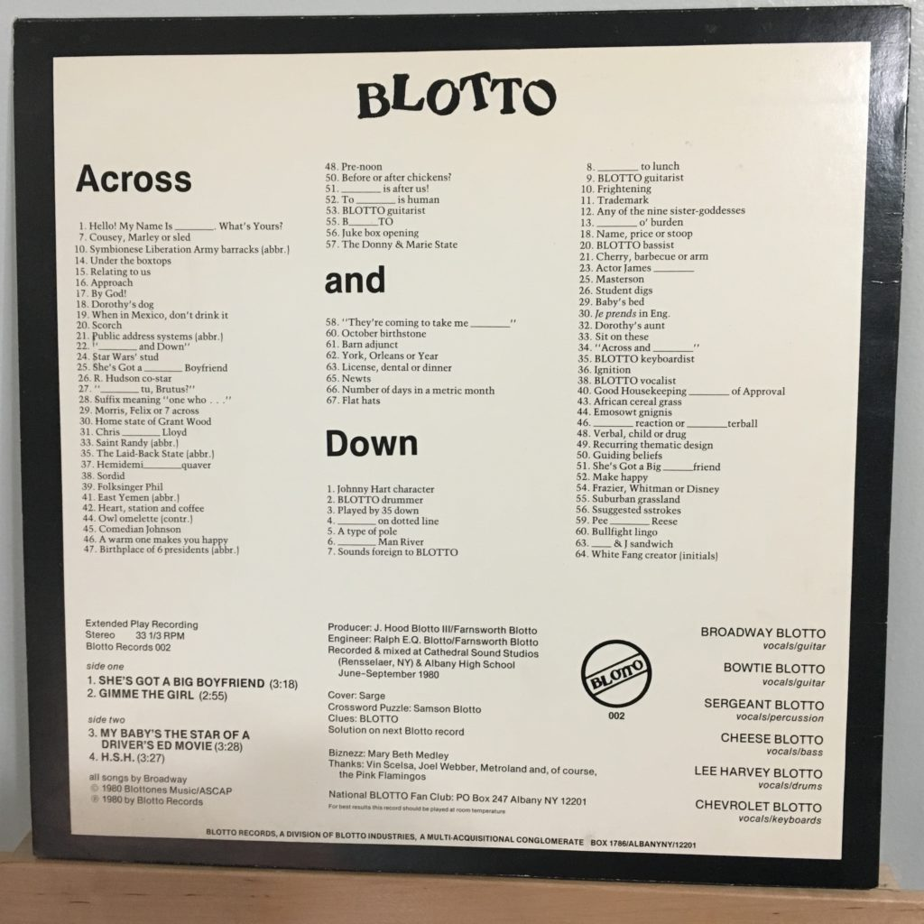 Across and Down back cover