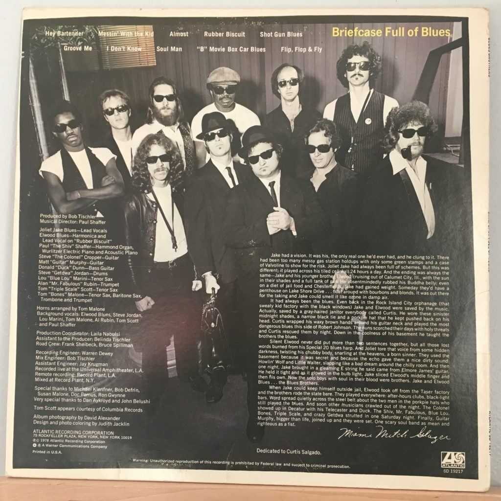 Briefcase Full of Blues back cover