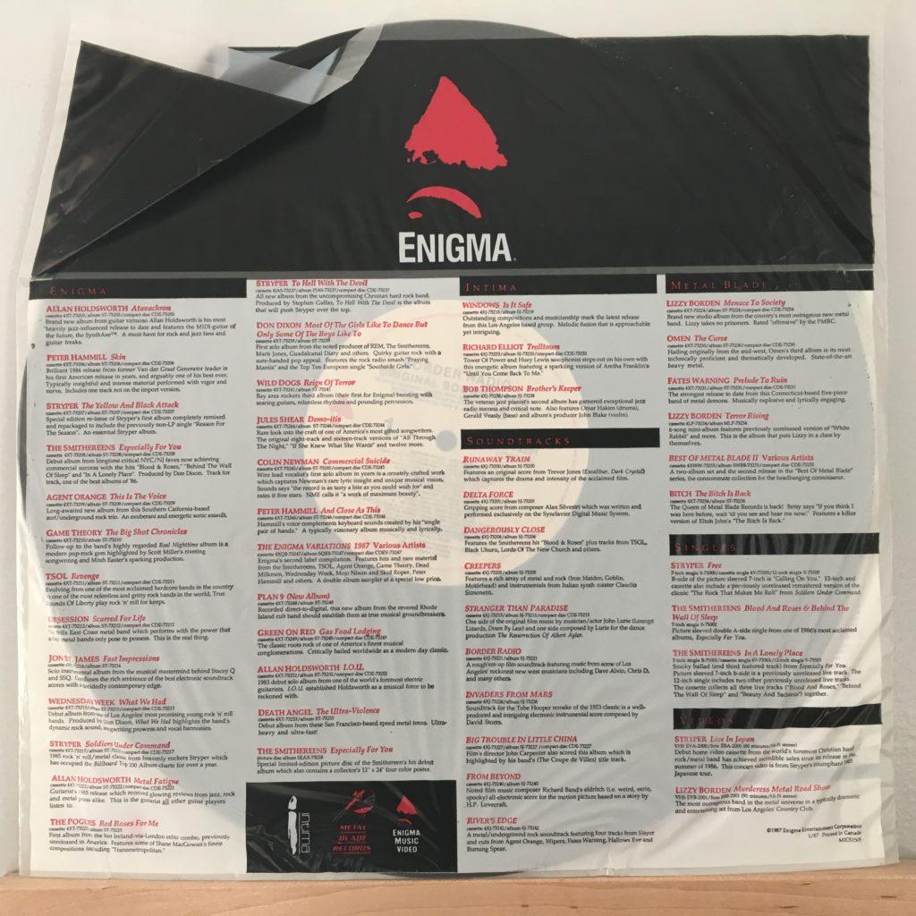 Enigma promo sleeve