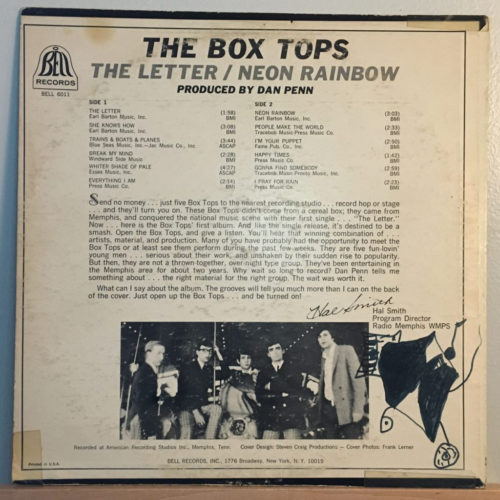 The Box Tops back cover