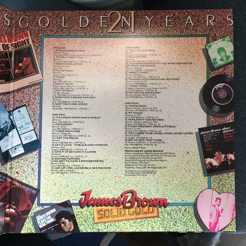 Solid Gold gatefold track listing