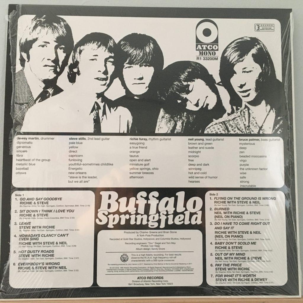 Buffalo Springfield back cover