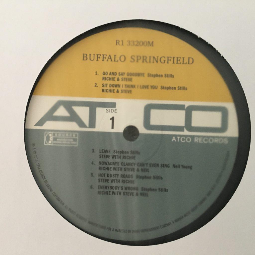 Buffalo Springfield on ATCO label