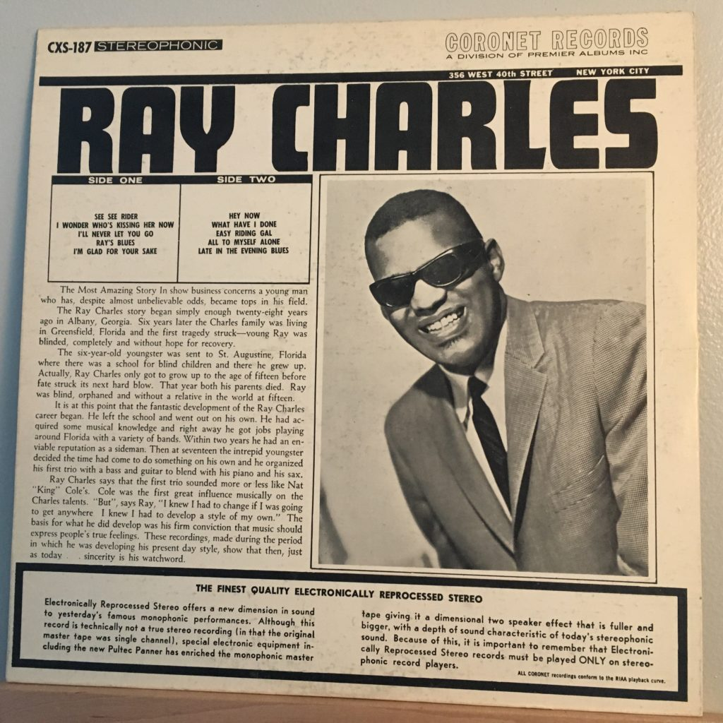 The Sensational Ray Charles back cover