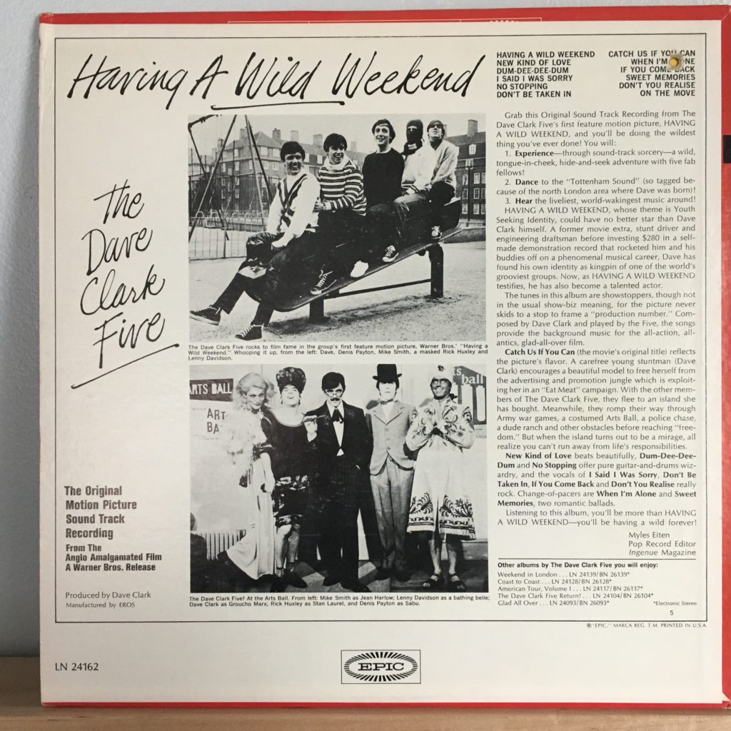 Having a Wild Weekend back cover