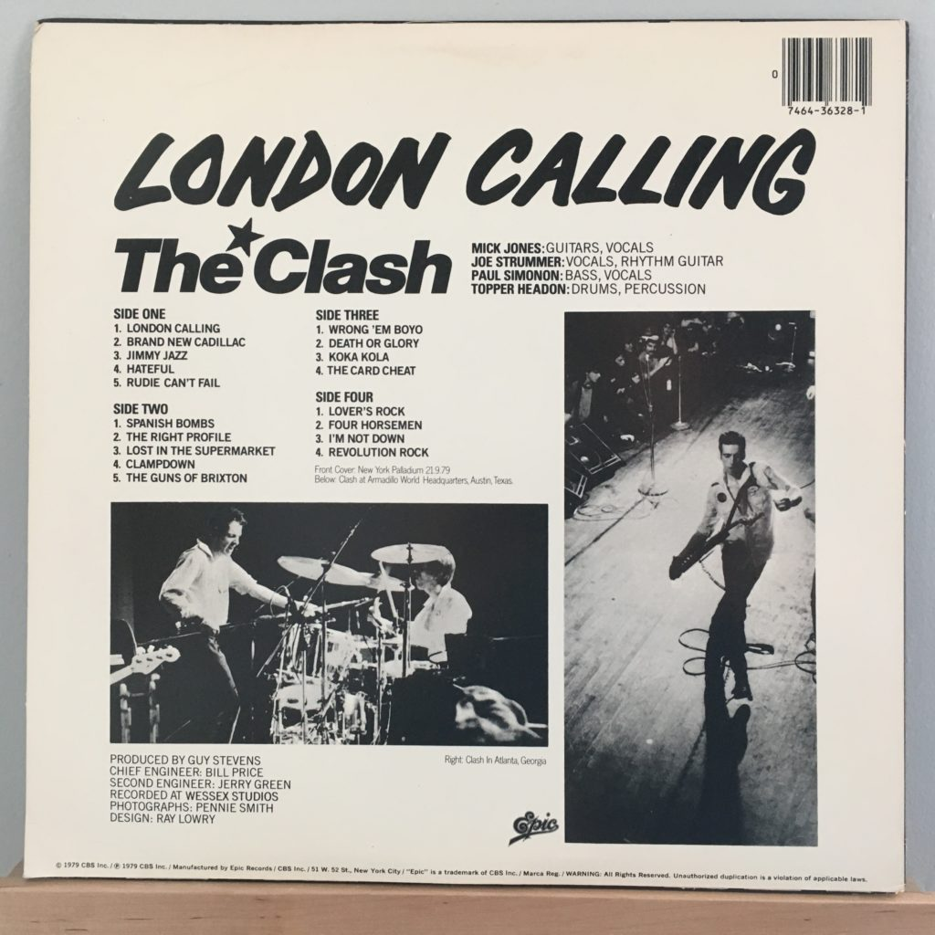 London Calling back cover