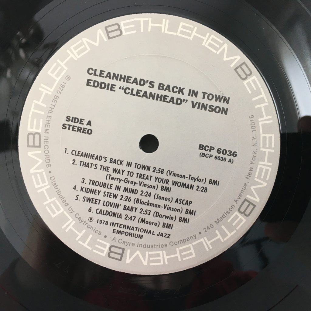 Cleanhead on the Bethlehem label