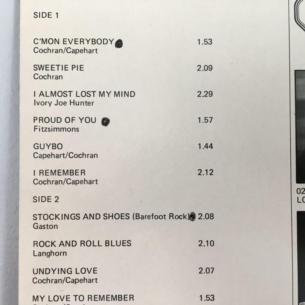 Somebody bulleted their favorite tracks