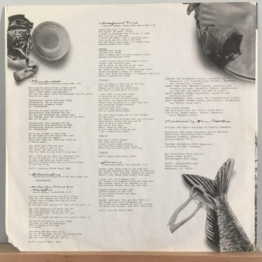 Reunion lyrics sleeve side 2