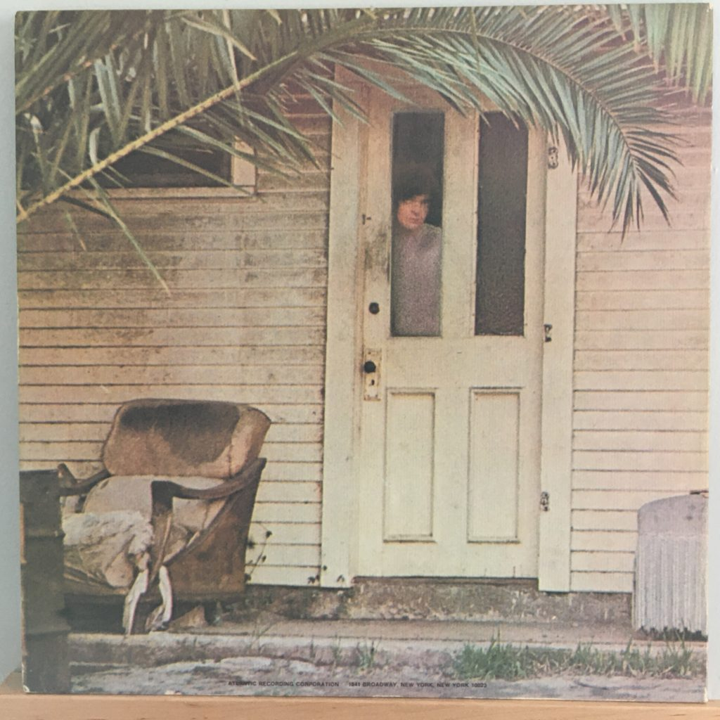 Drummer Dallas Taylor -- back cover, but front door.