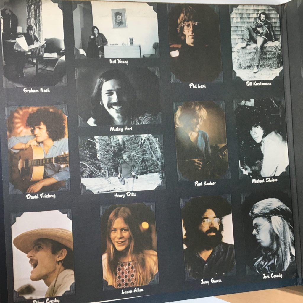 Gatefold left -- personnel on Crosby's solo album