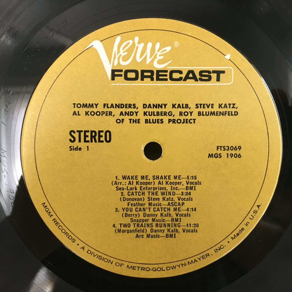 Verve Forecast Label for The Blues Project