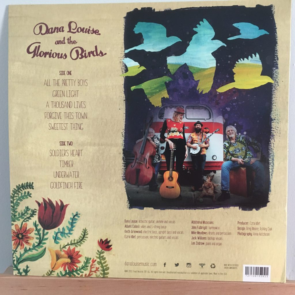 Dana Louise and the Glorious Birds back cover