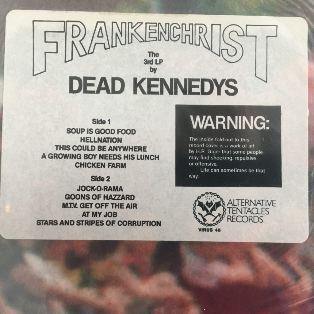 Frankenchrist warning label
