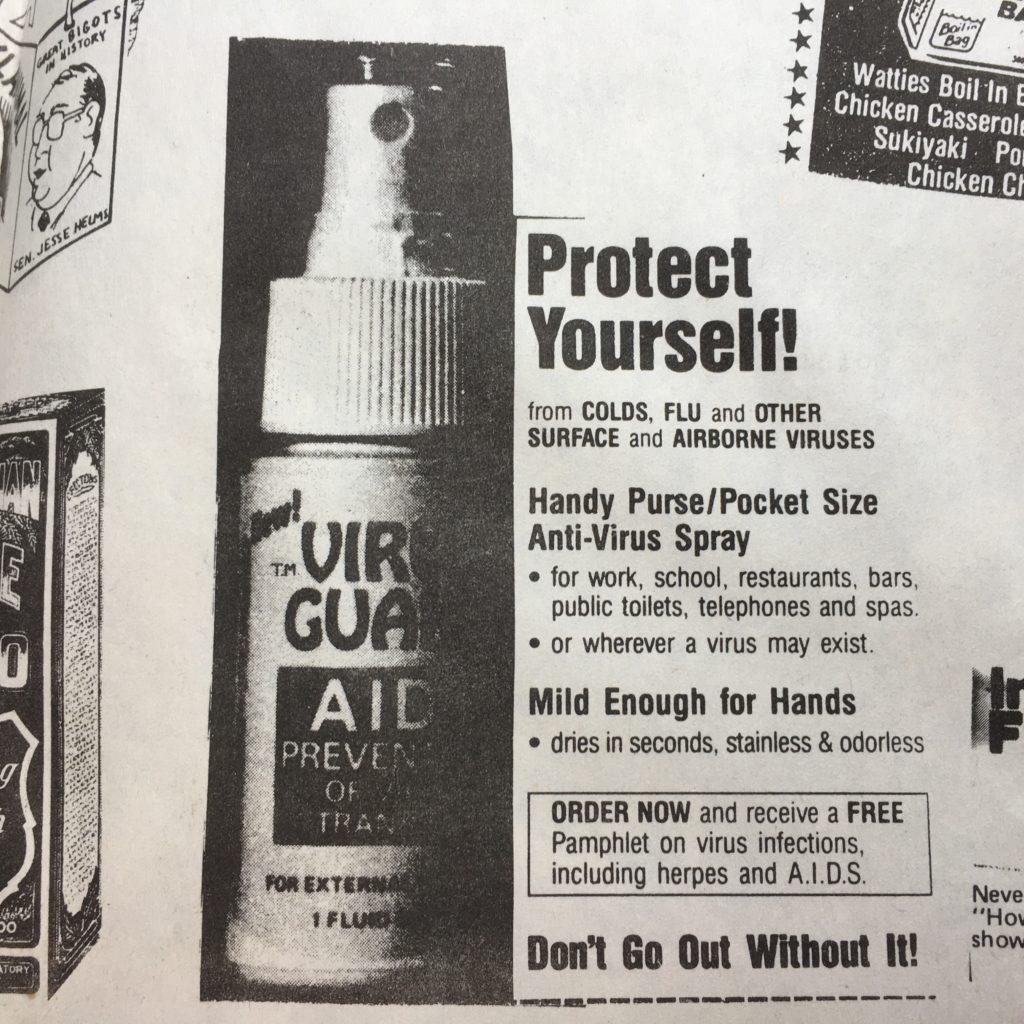An ad for an anti-virus spray