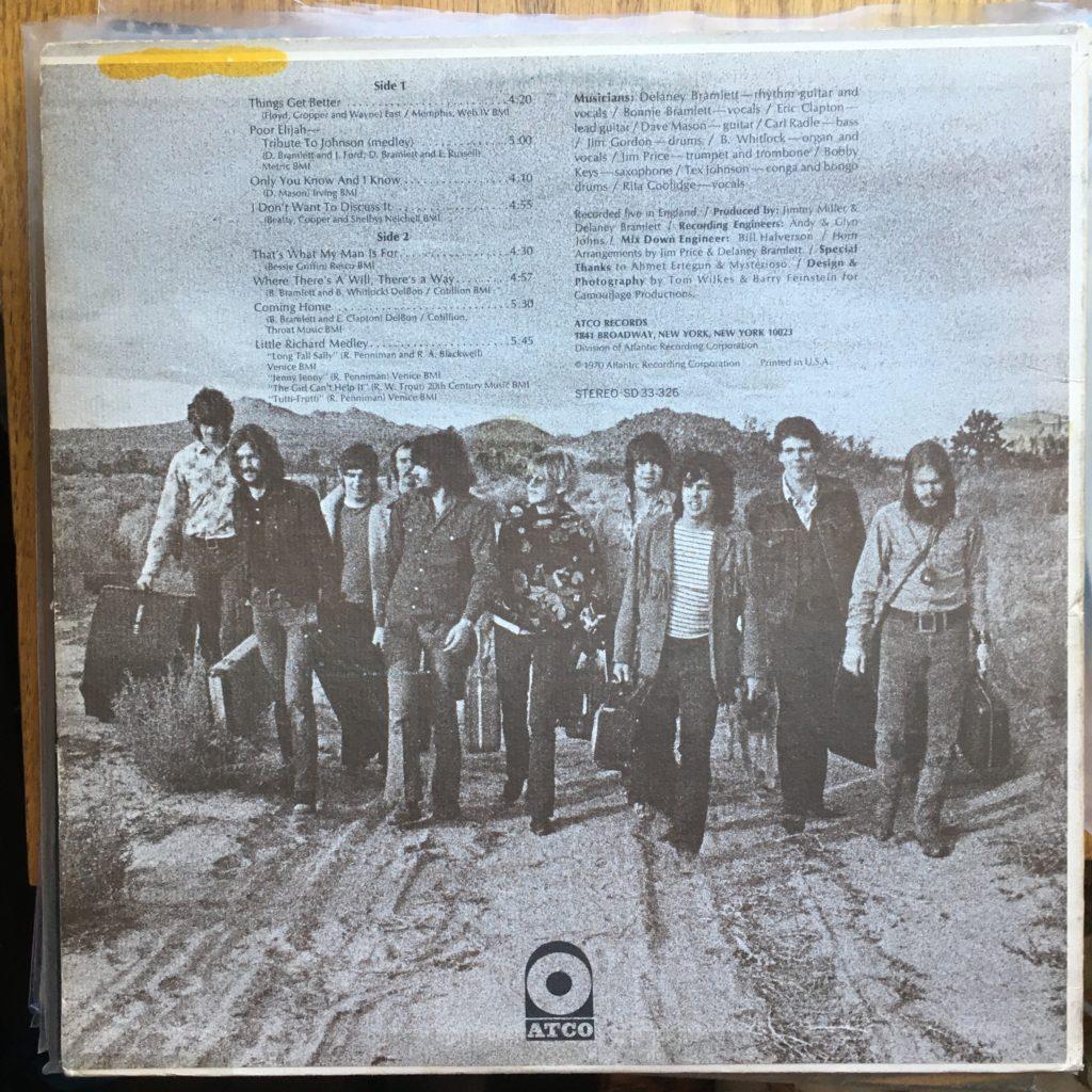Delaney & Bonnie & Friends back cover