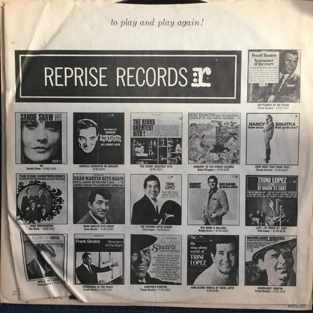 Reprise promo sleeve for The Electric Prunes