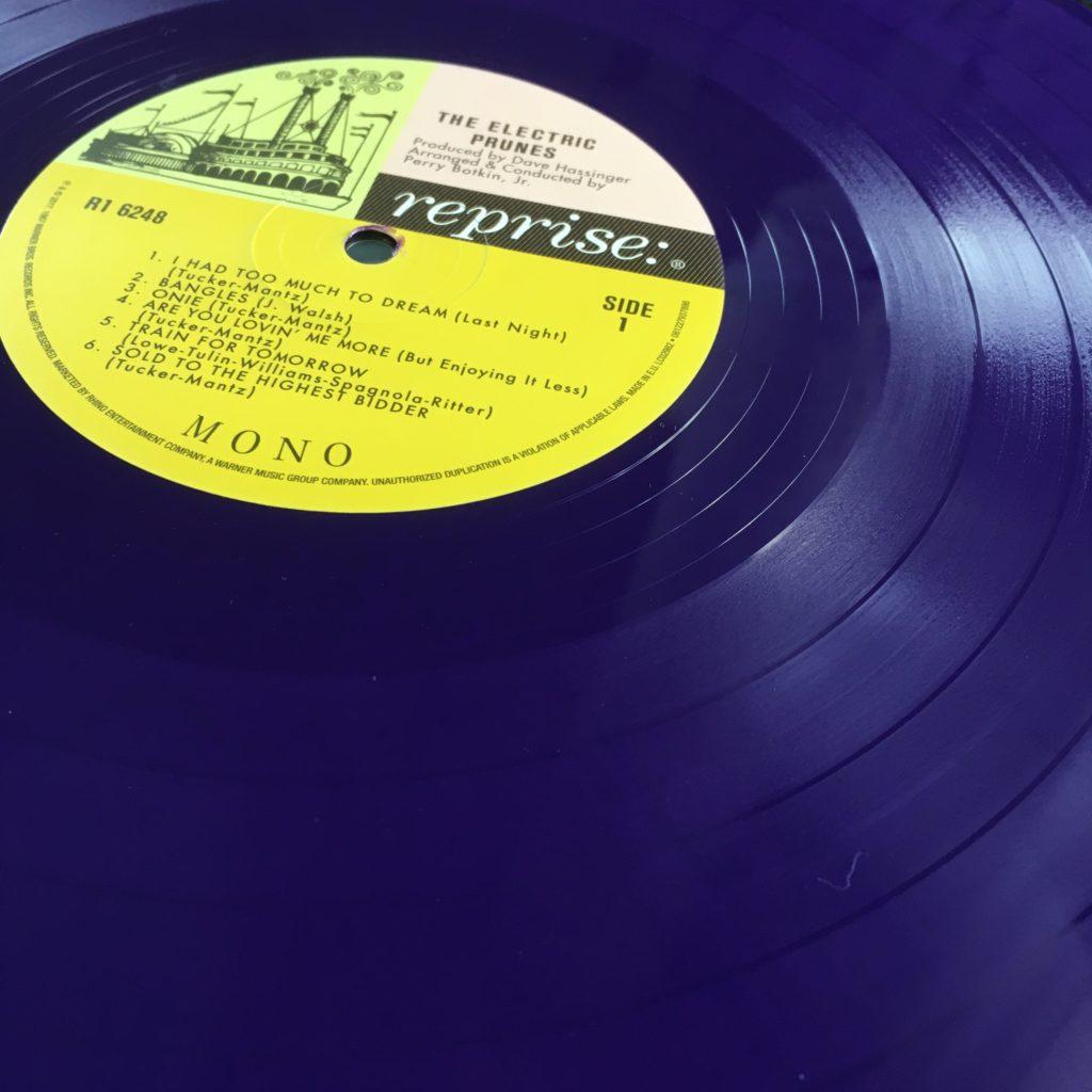 Purple vinyl on the Rhino reissue of The Electric Prunes