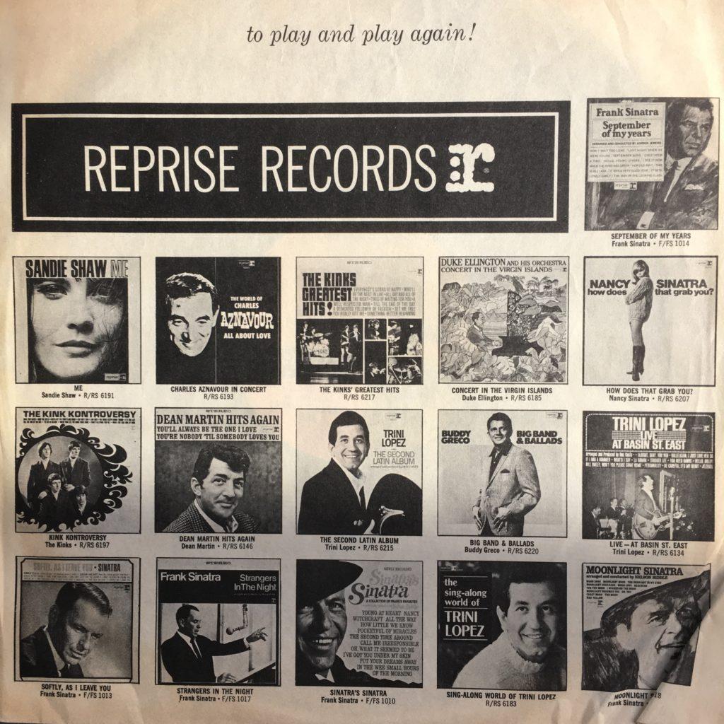 Reprise records promo sleeve