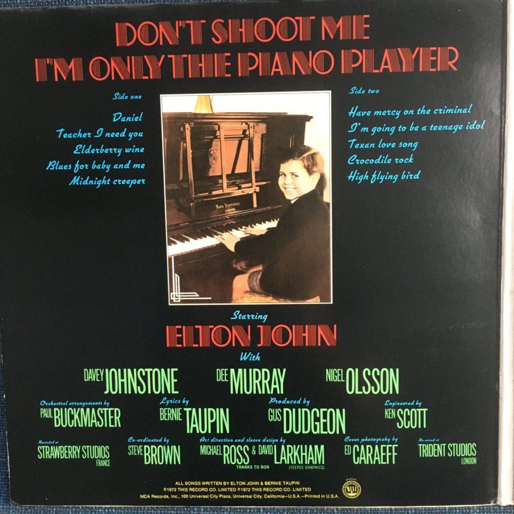 Don't Shoot Me inside cover