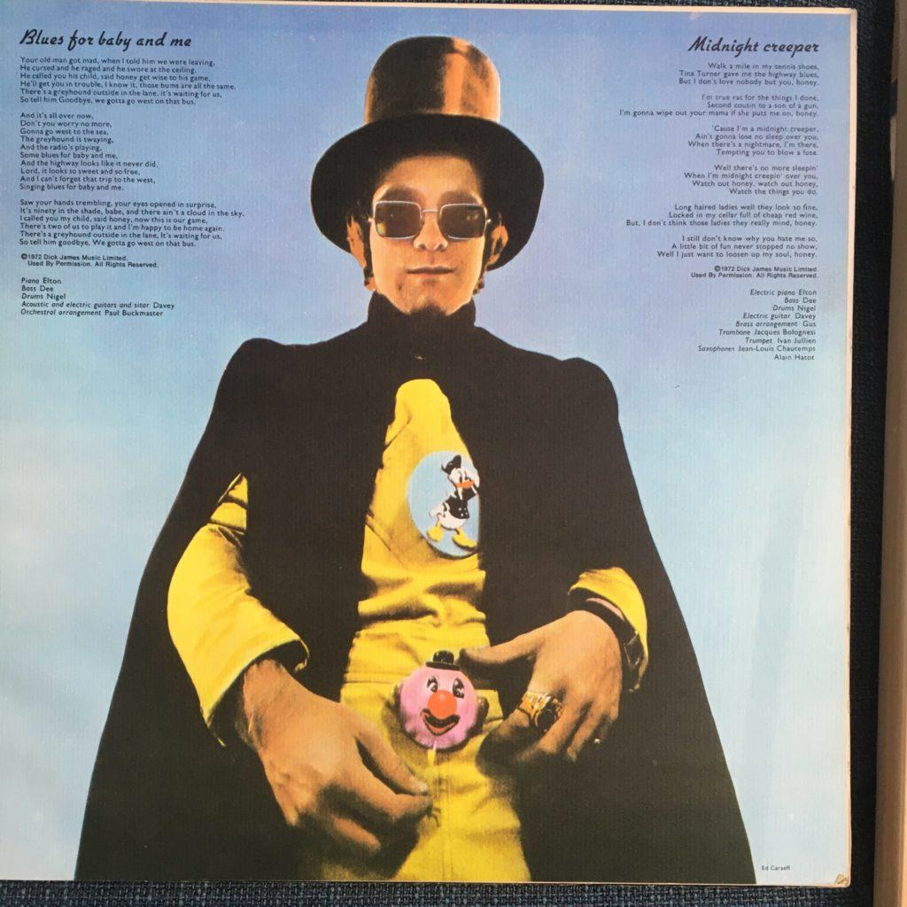 Elton photo from Don't Shoot Me lyric booklet