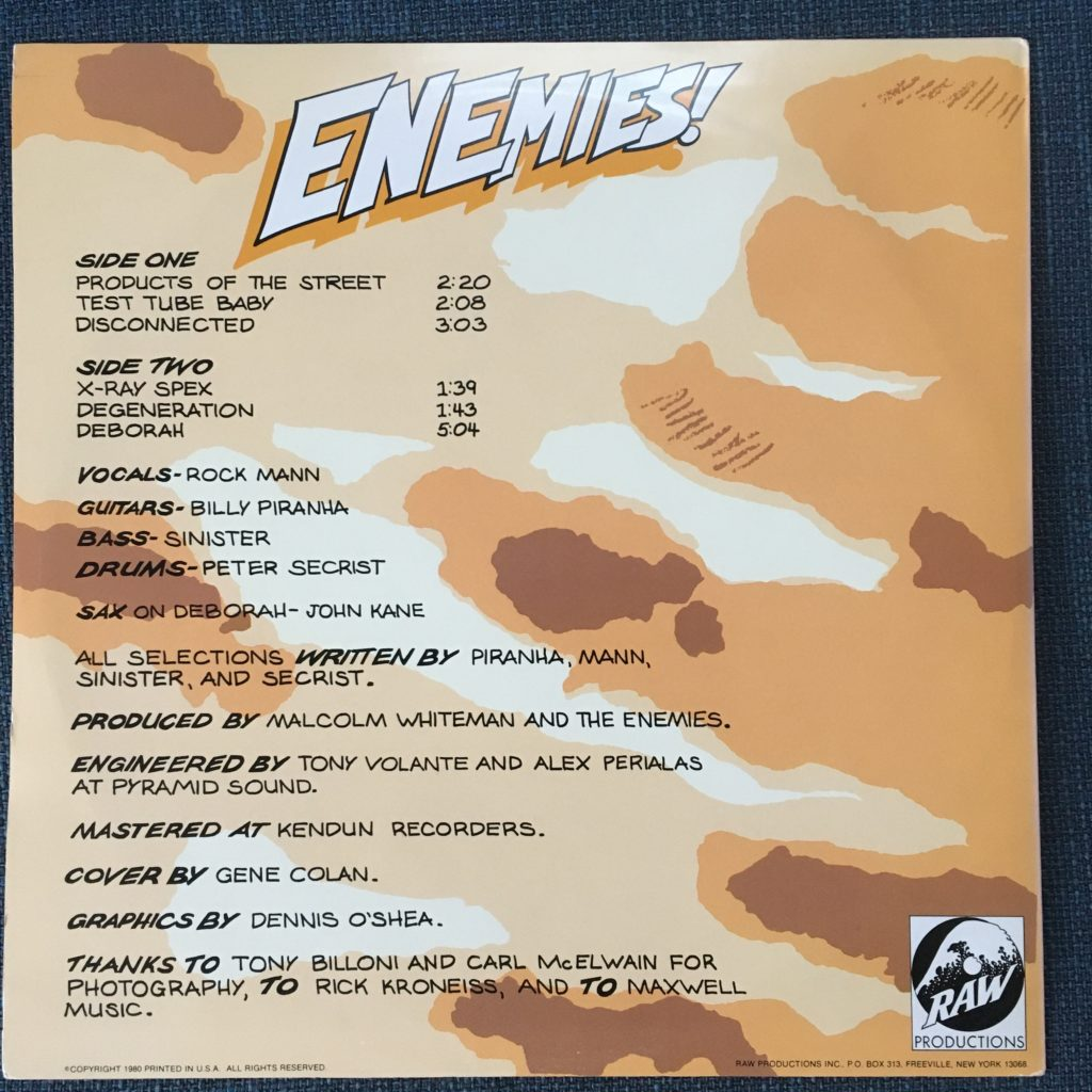 Enemies back cover