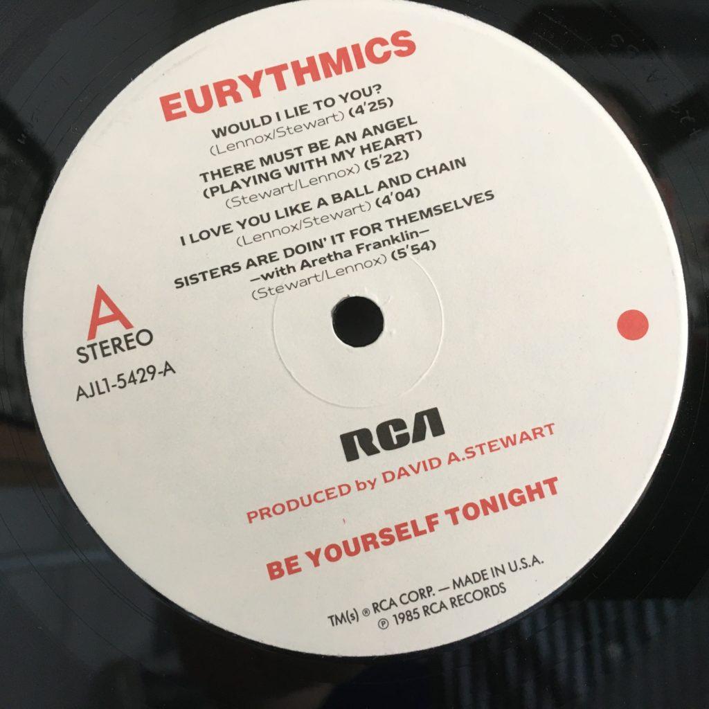 Be Yourself Tonight custom label