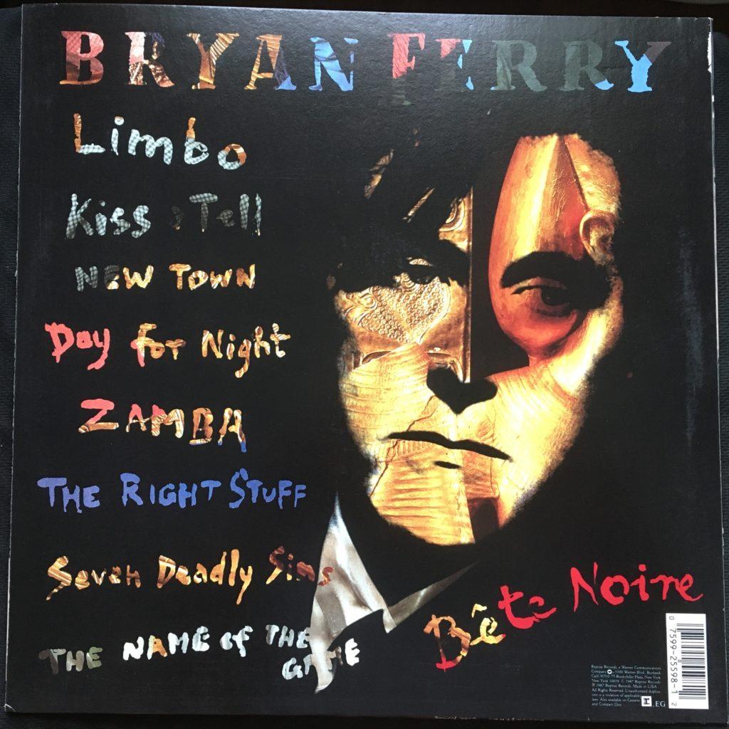 Bete Noire back cover