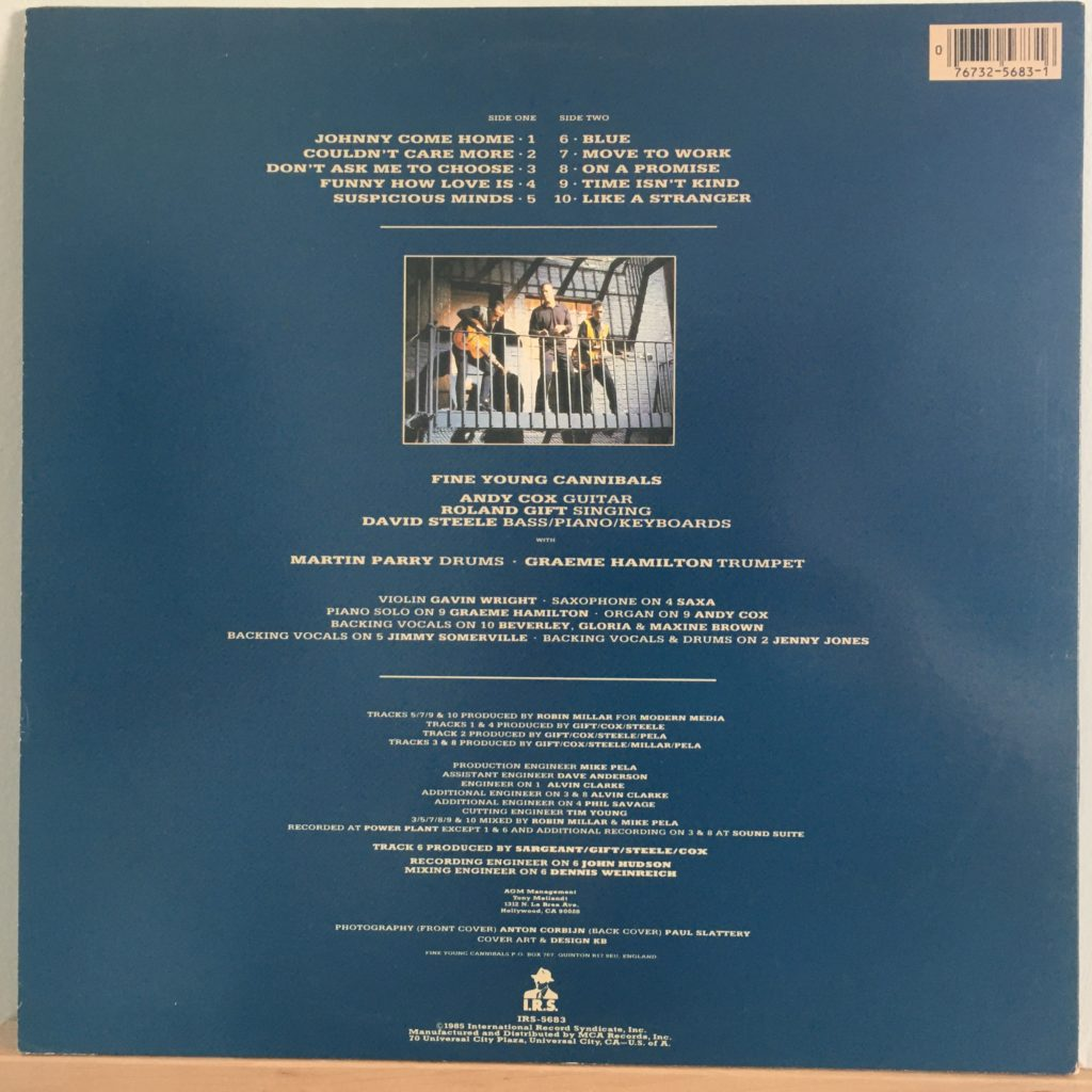 Fine Young Cannibals back cover
