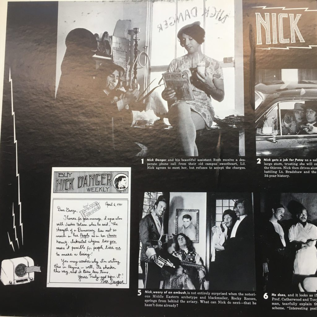 The gatefold features the adventures of Nick Danger