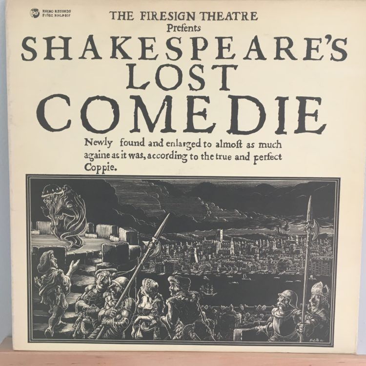 Shakespeare's Lost Comedie