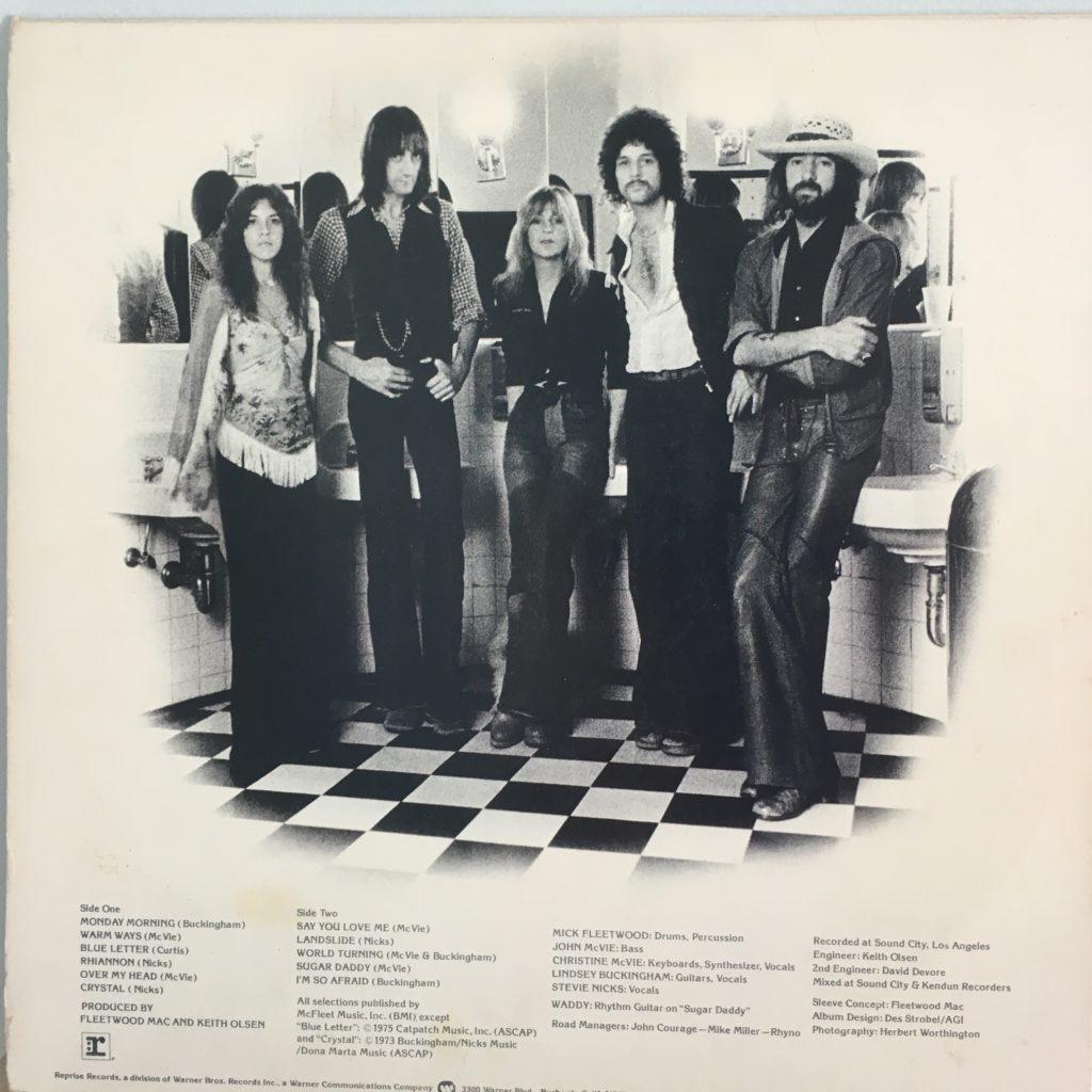 Fleetwood Mac back cover