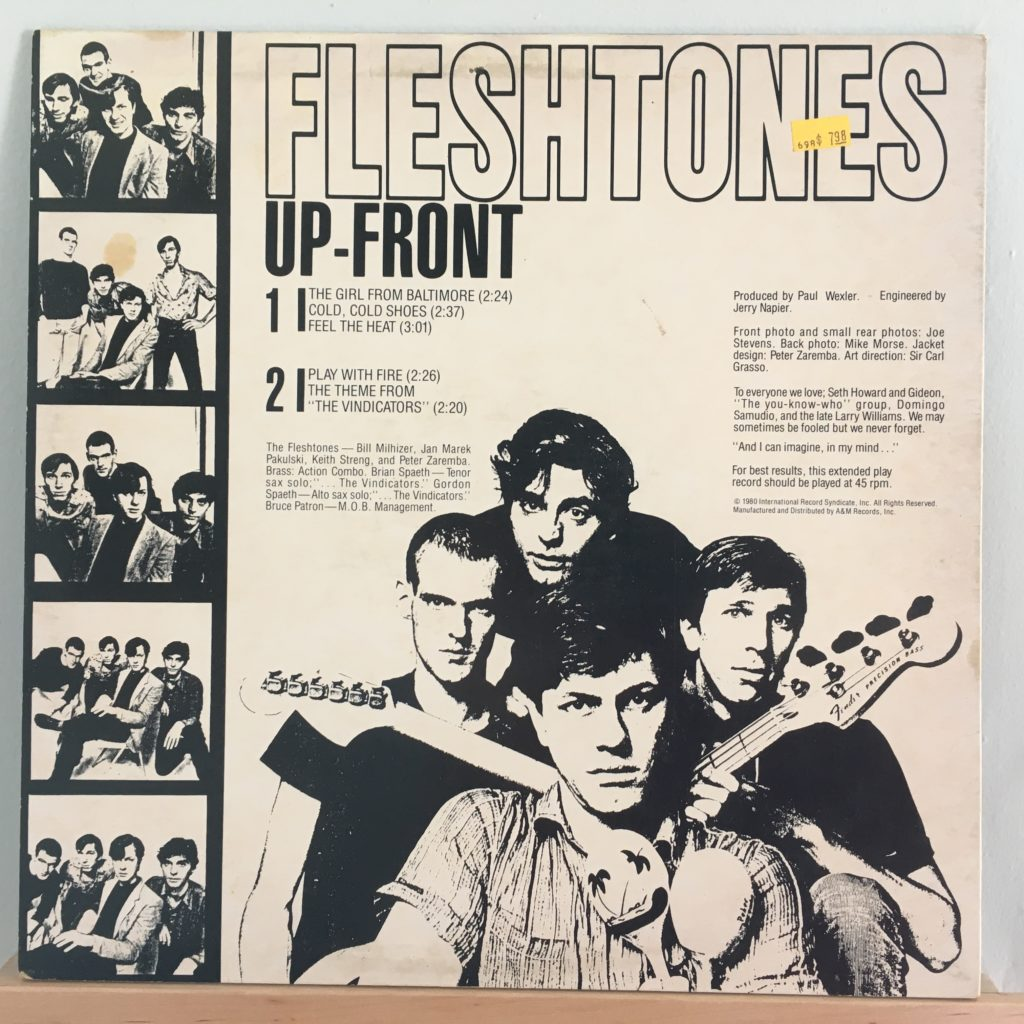 Fleshtones Up-Front back cover
