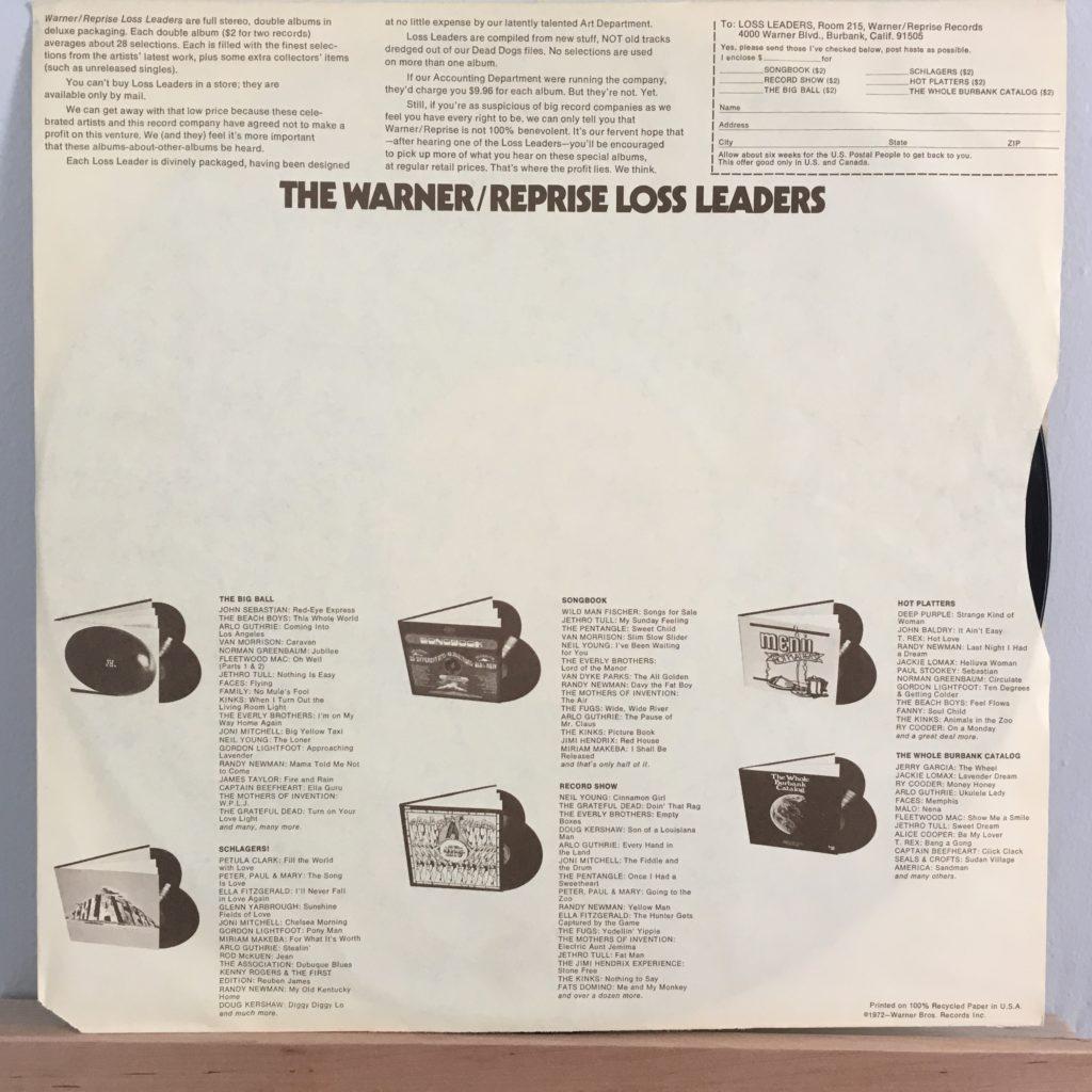 Warner/Reprise Loss Leader sleeve