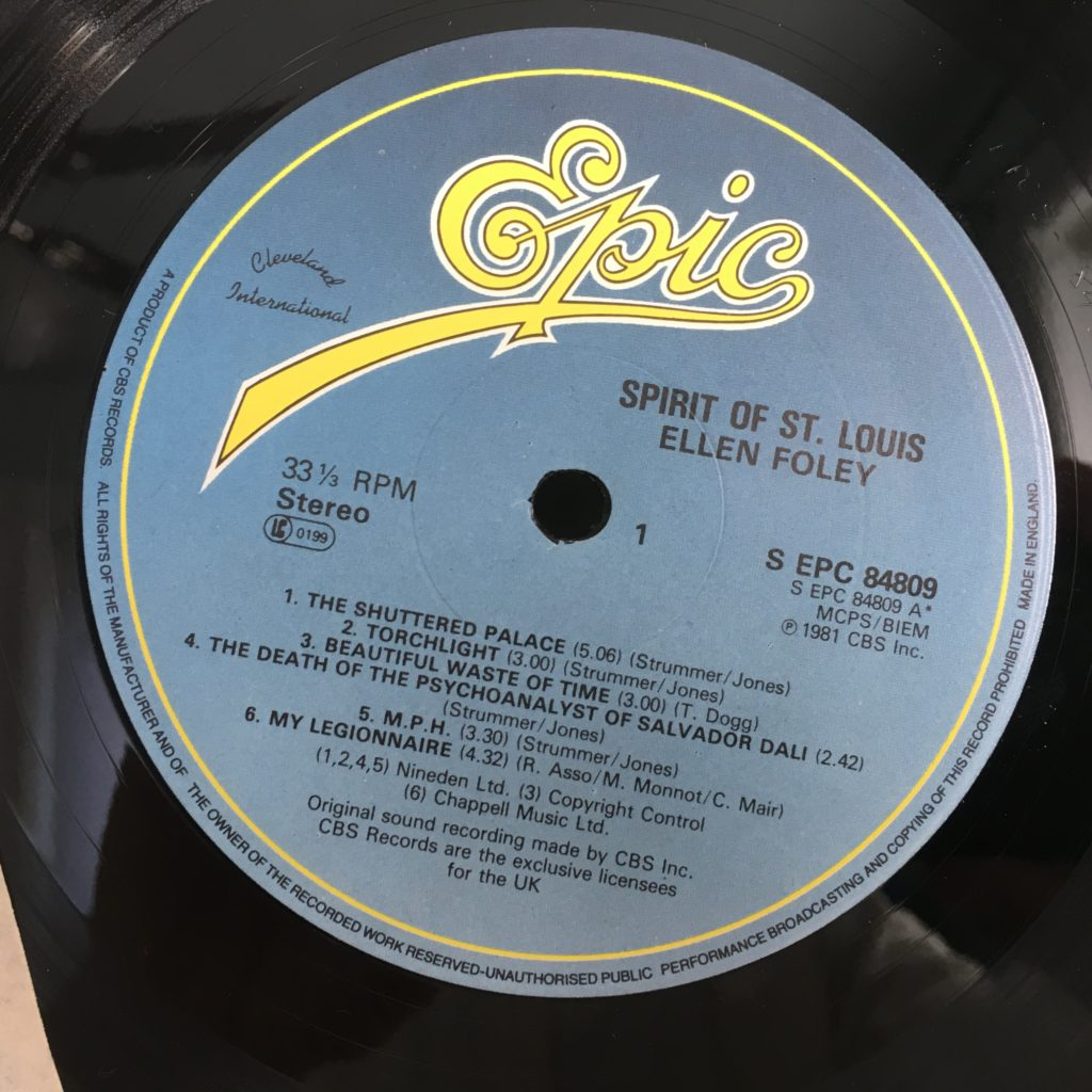 Spirit of St. Louis label