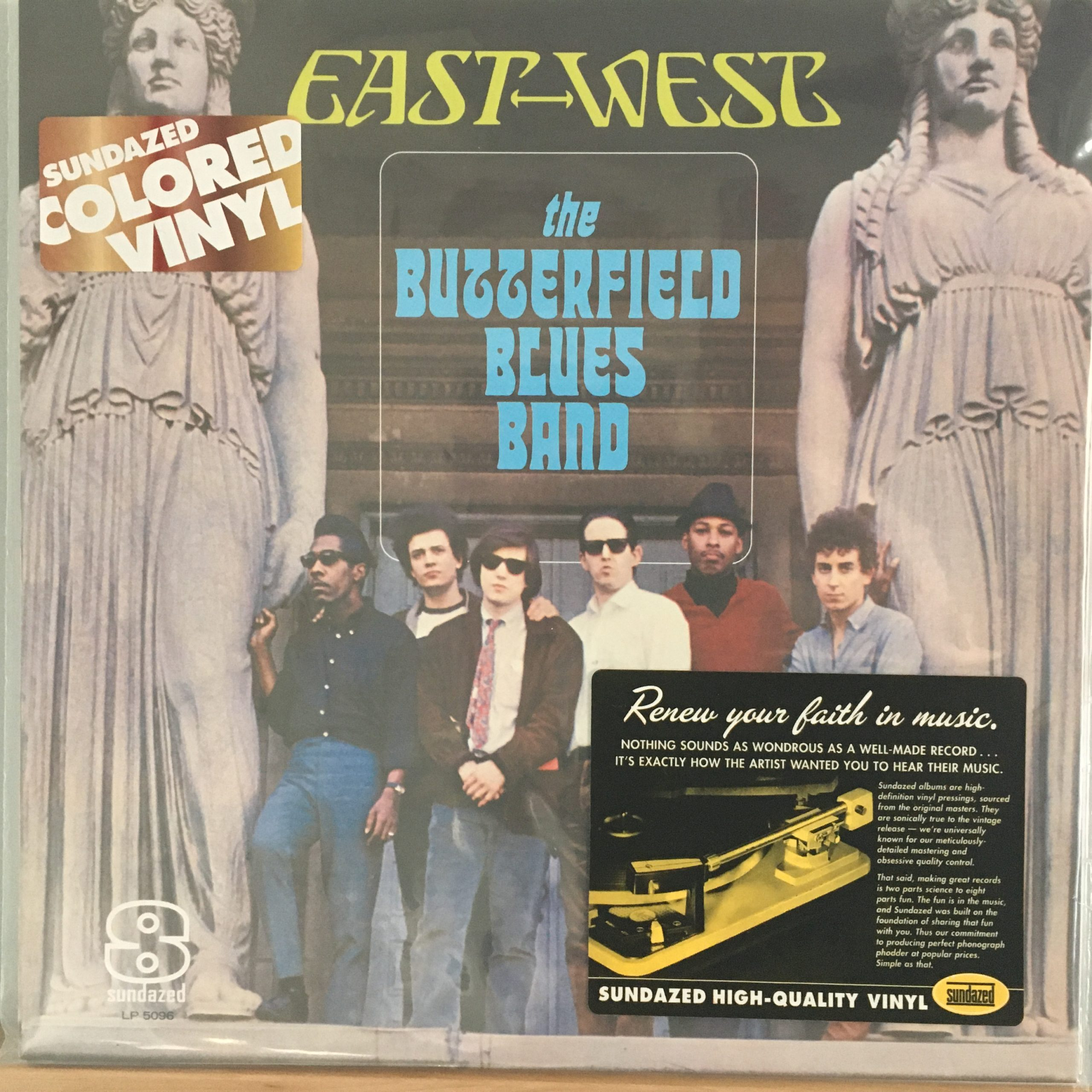East-West cover with Sundazed promo stickers
