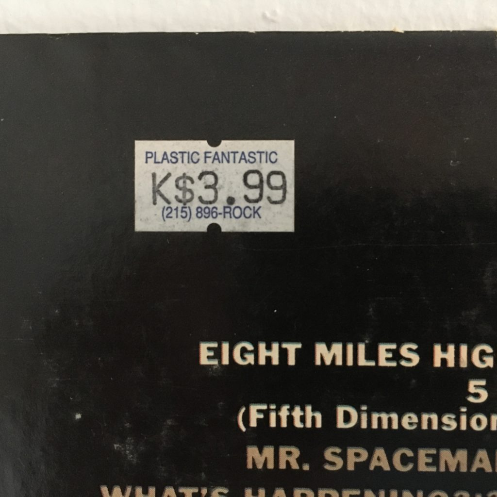 Plastic Fantastic price sticker