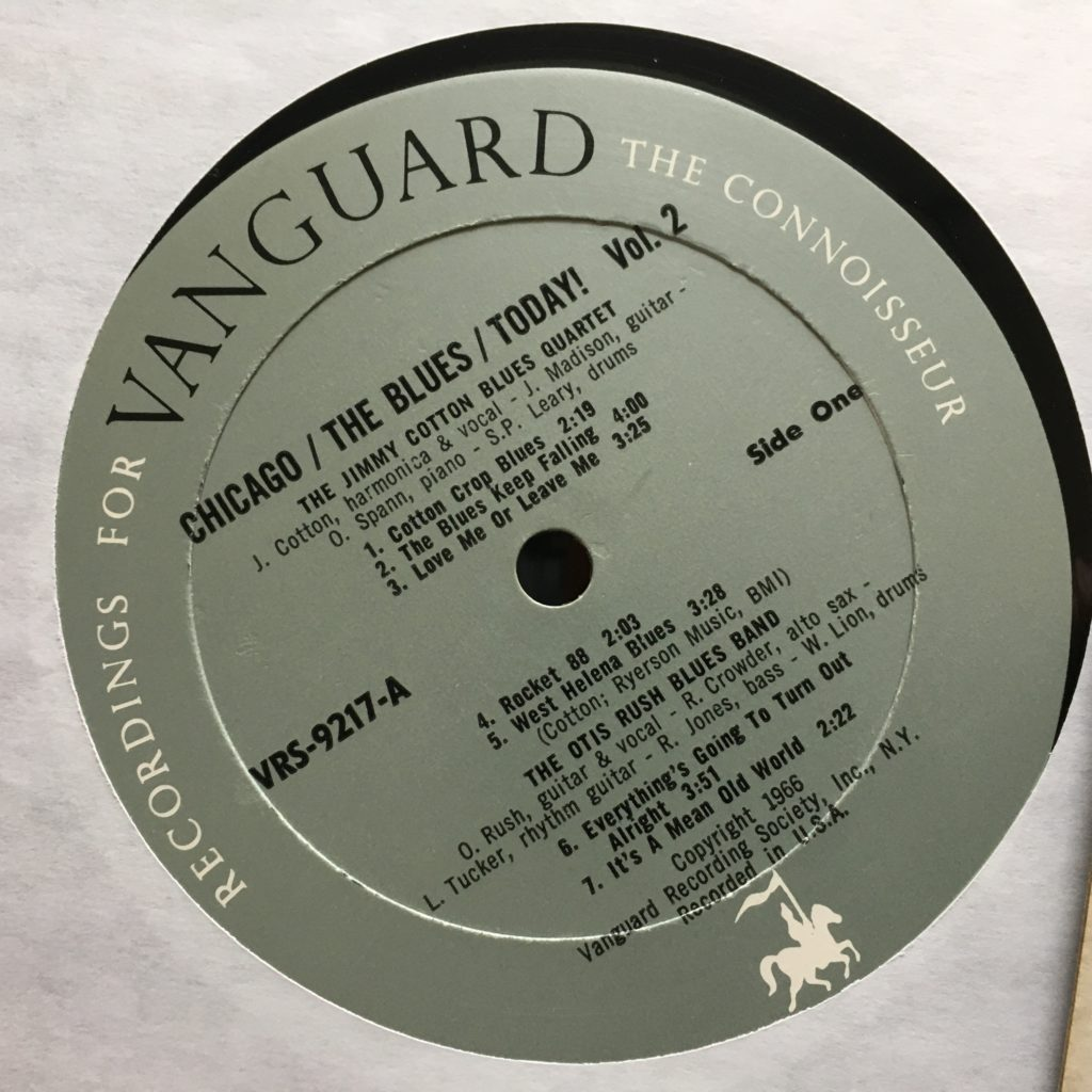 Chicago / The Blues / Today! Vol. 2 label