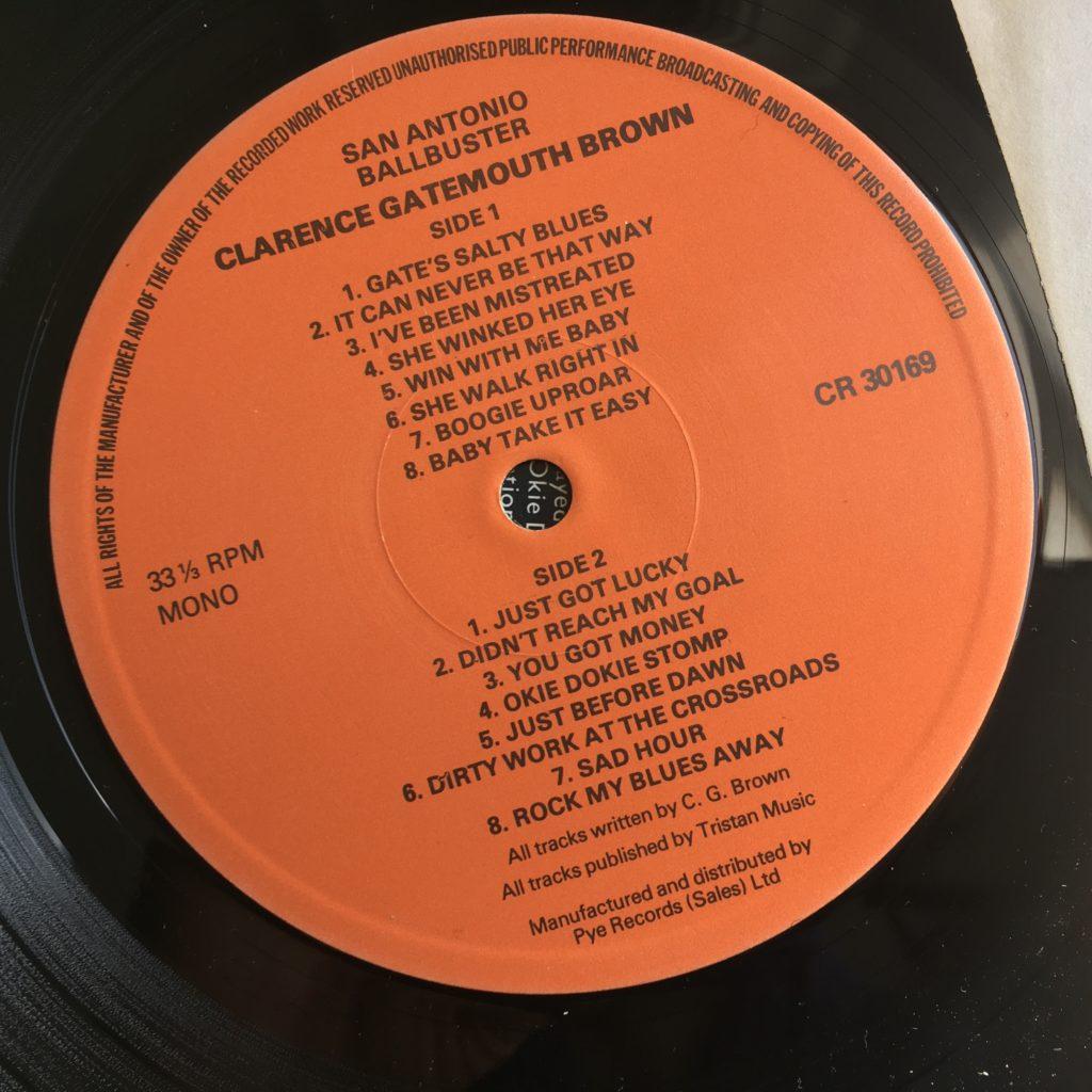 San Antonio Ballbuster label track listing
