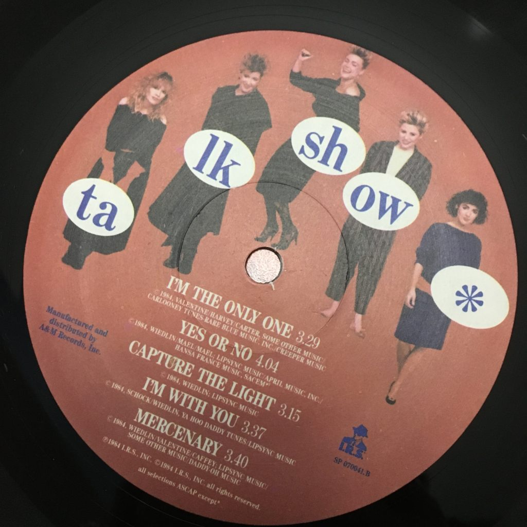 Talk Show custom label B side