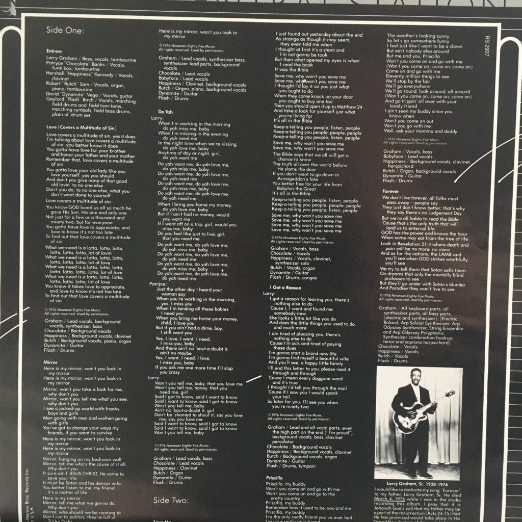 Mirror lyric sheet