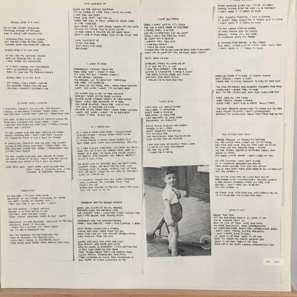 Buddy Odor lyrics insert