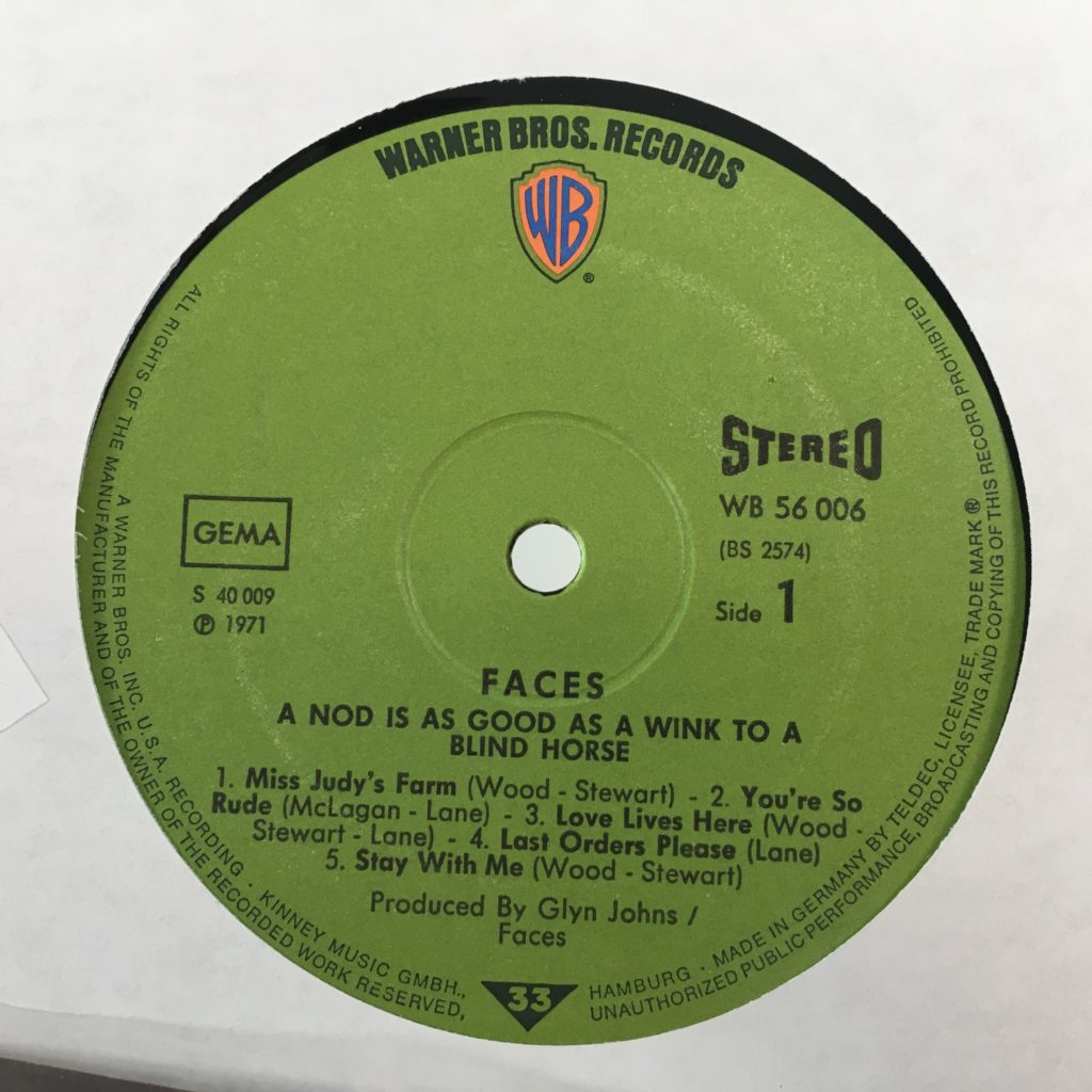A Nod's As Good As A Wink German label