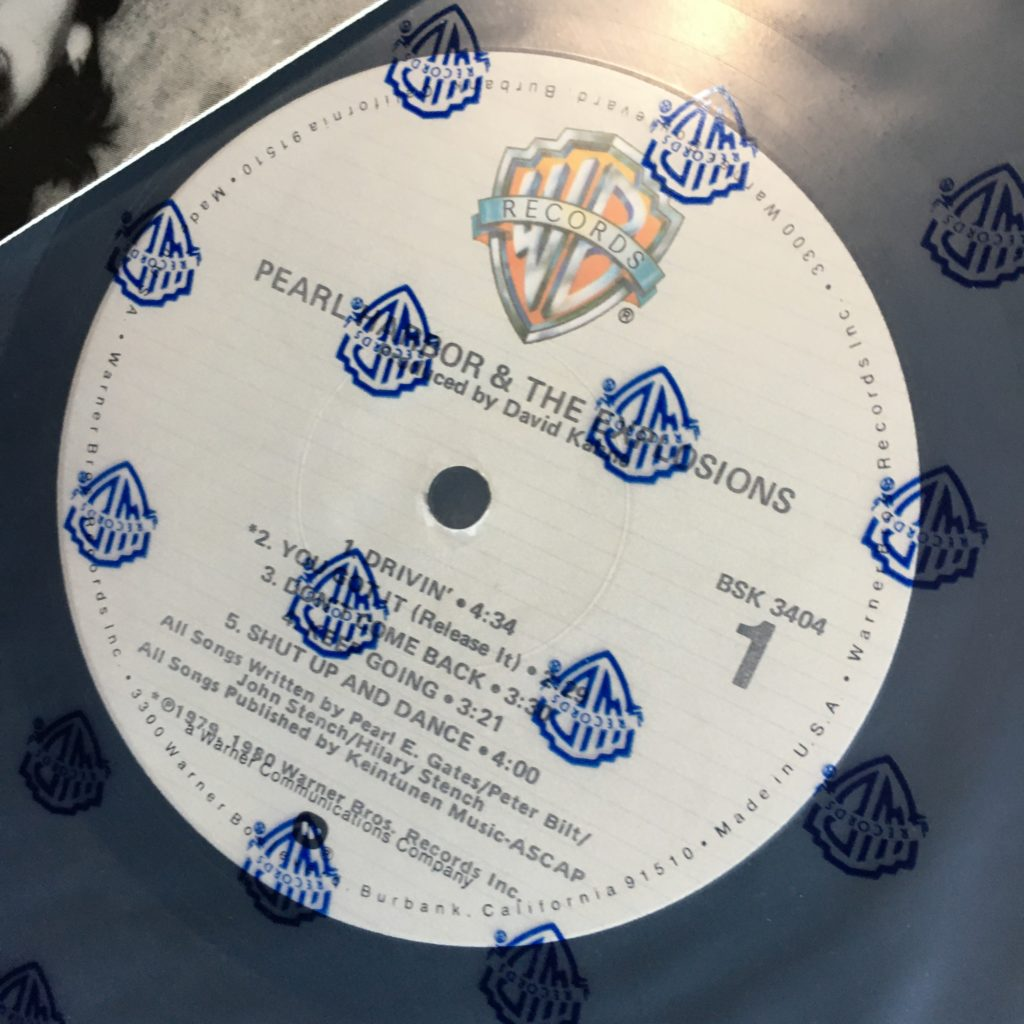 Pearl Harbor label and plastic sleeve