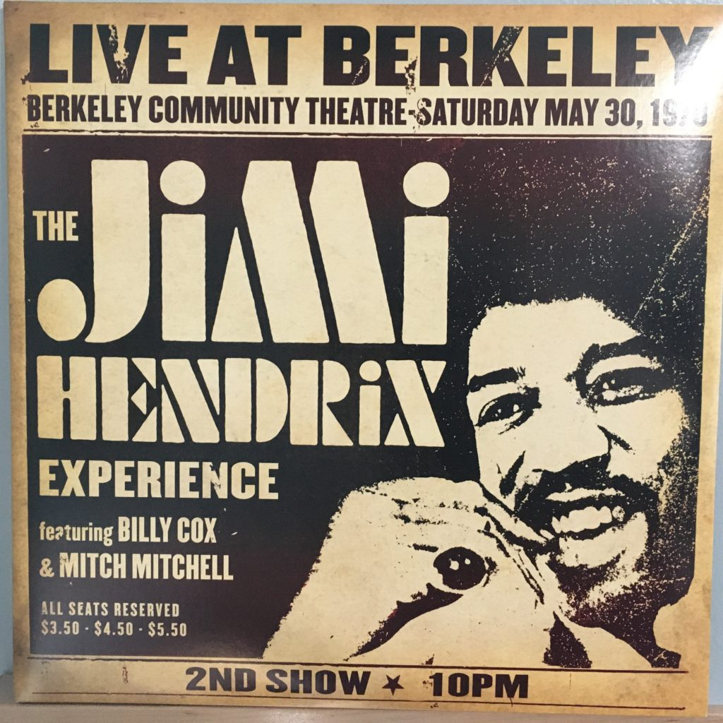 Jimi Hendrix Experience Live at Berkeley front cover