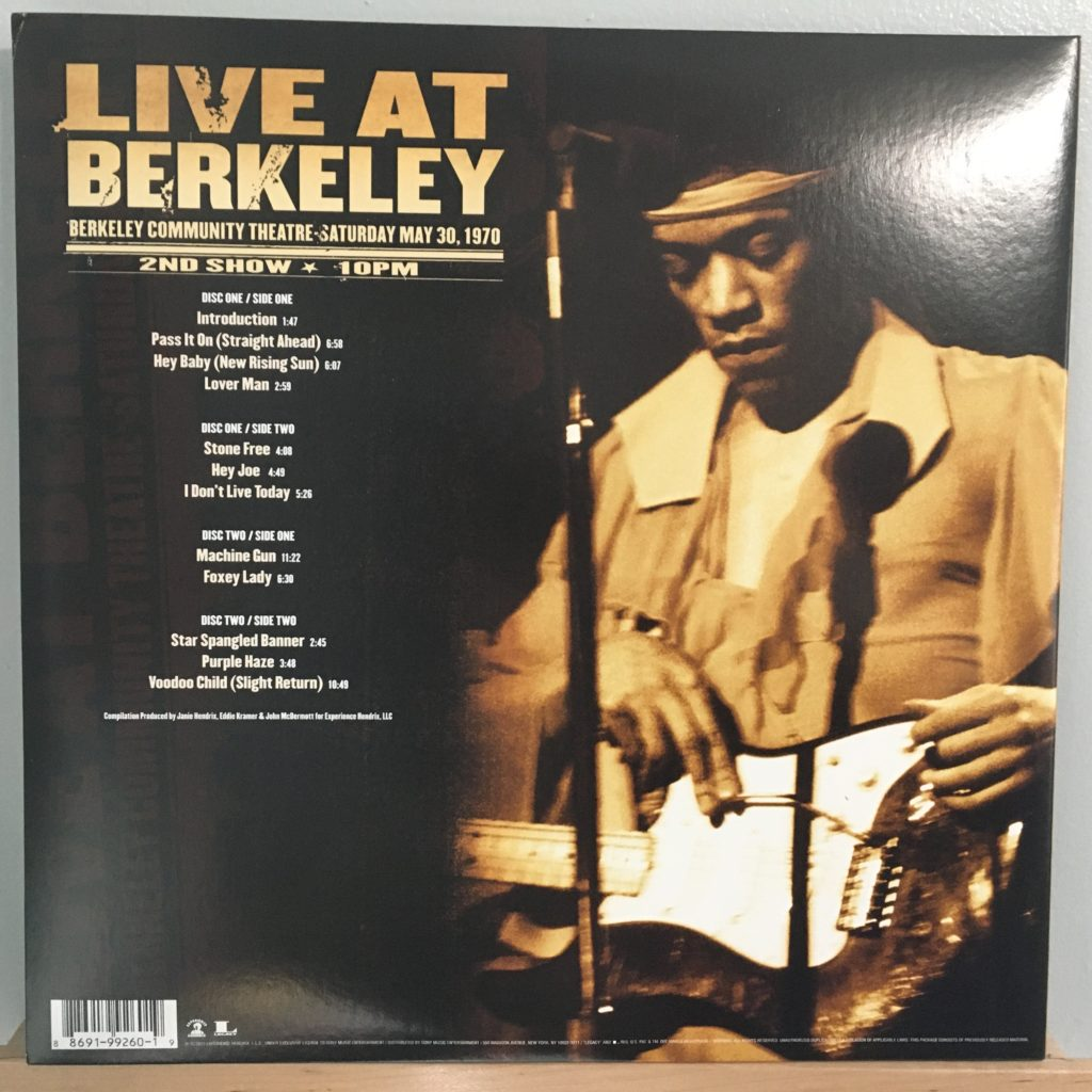 Live at Berkeley back cover