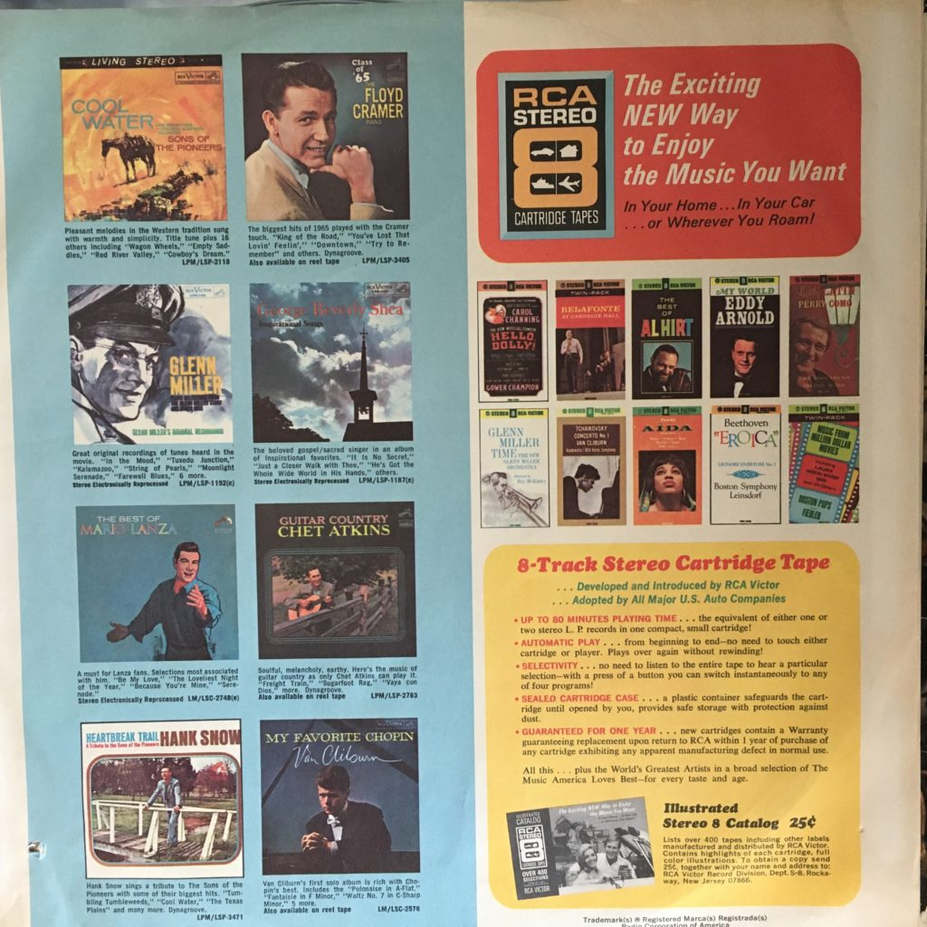 RCA Victor promo sleeve