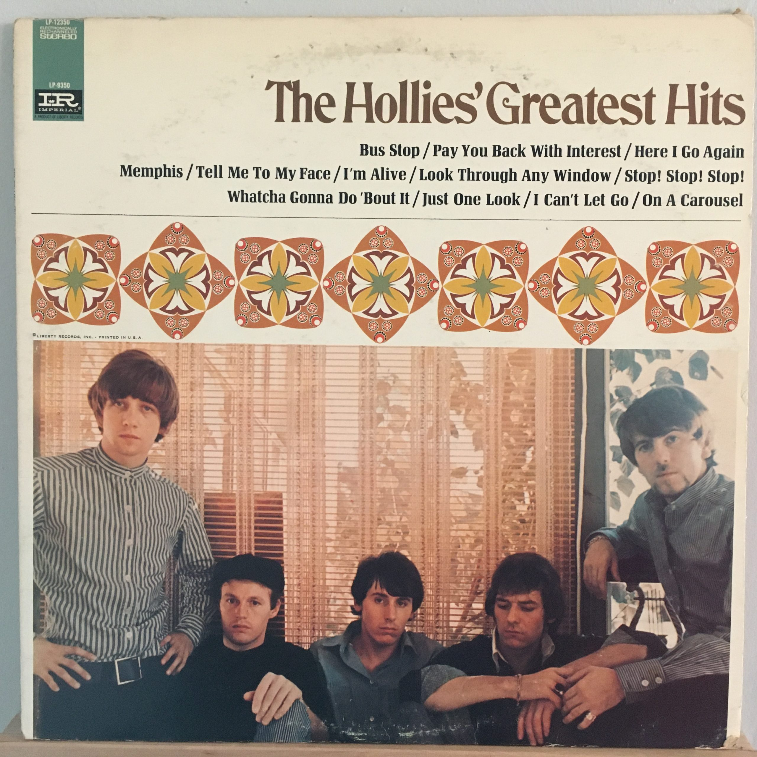The Hollies' Greatest Hits 1 front cover