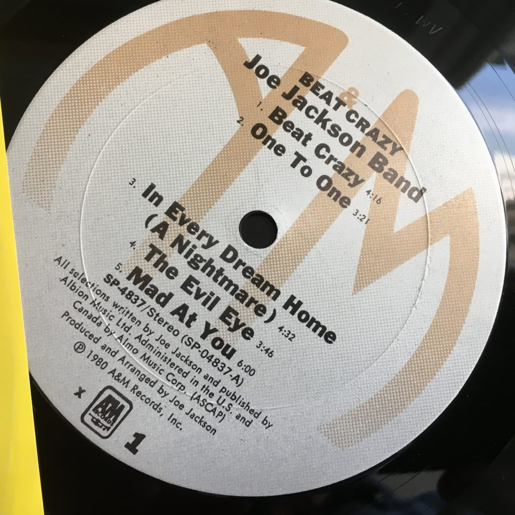 Beat Crazy A&M label